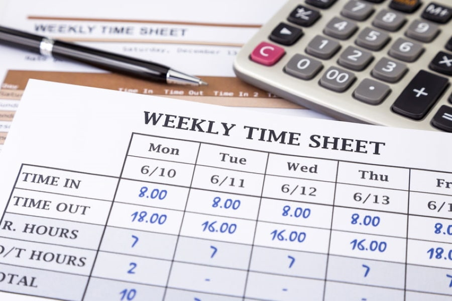 Calculating working hours